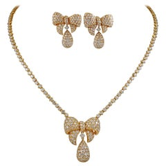 Graff Diamond Bow Motif Necklace, Earrings