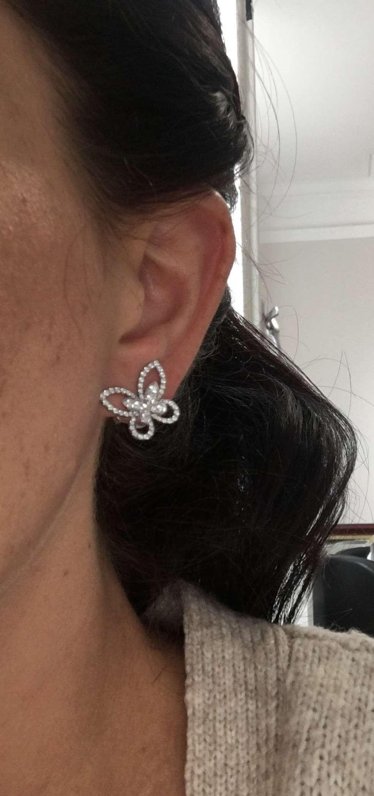 Graff Diamond Butterfly Earrings For Sale 2