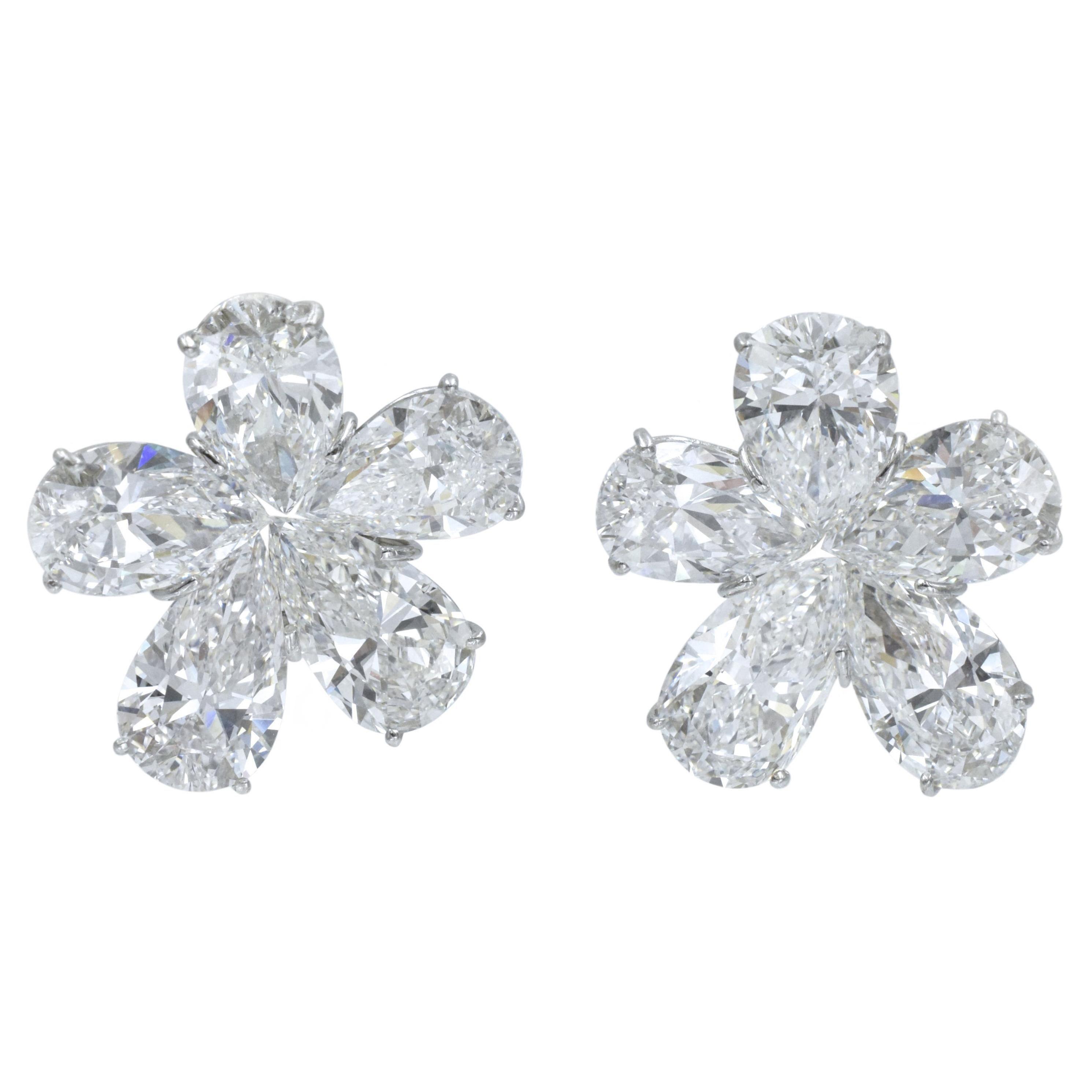 Winston Cluster Large Diamond Earrings