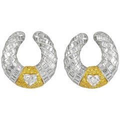 Graff Diamond White Gold Hoop Earrings