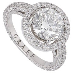 Graff Diamond Halo Engagement Ring 2.00 Carat F/VS1 GIA Certified