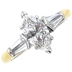Graff Diamond Marquise Engagement Ring Box and Papers