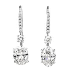 Graff Diamond Platinum Dangle Cocktail Earrings