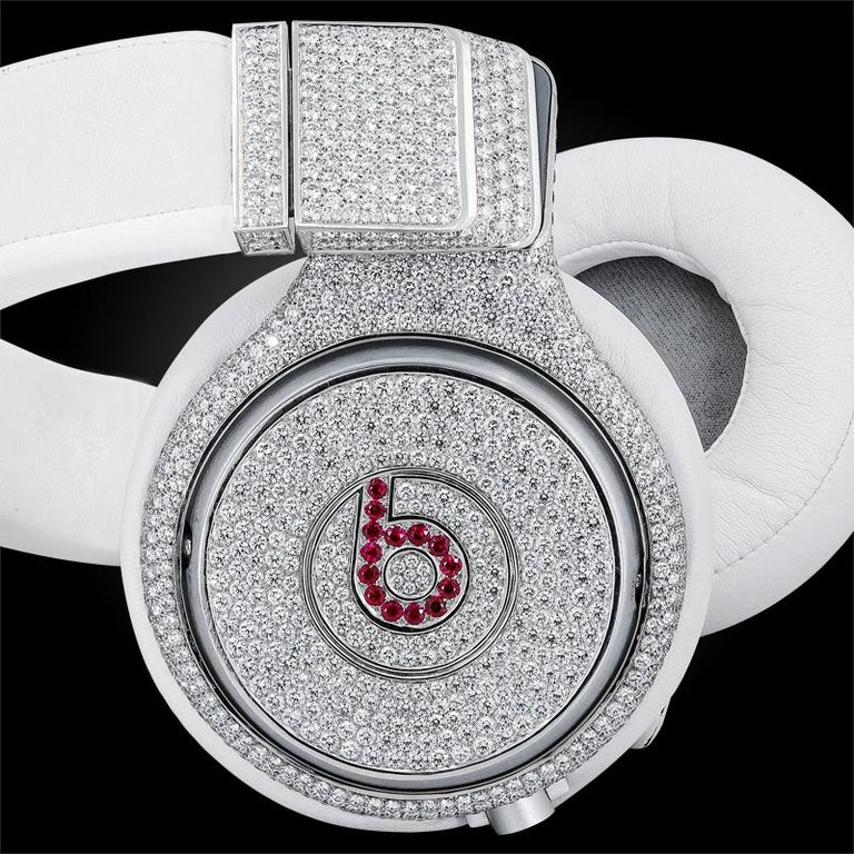 Women's or Men's Graff Diamond and Ruby Headphones For Sale