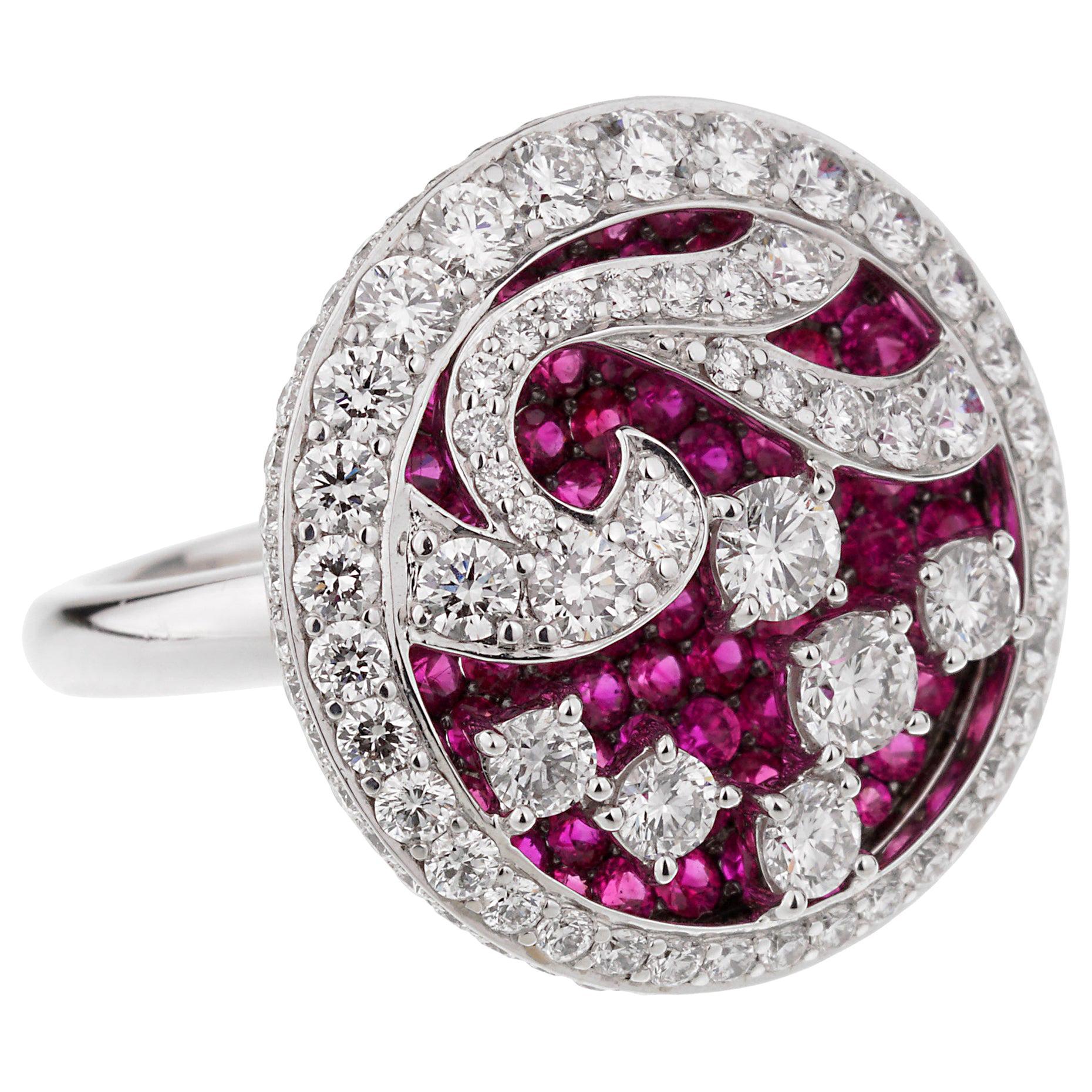 Graff Diamond Ruby White Gold Cocktail Ring