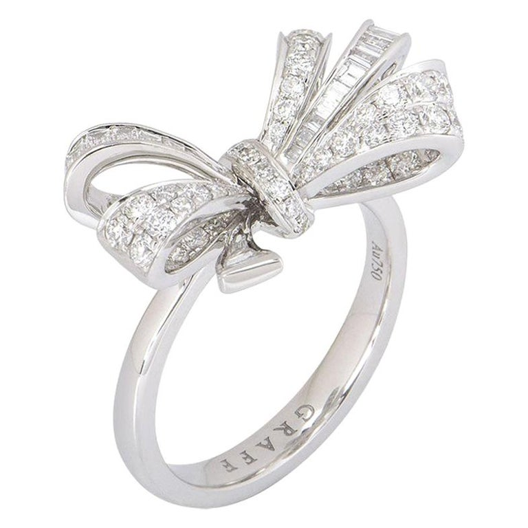 Graff Diamond Set Bow Ring For Sale