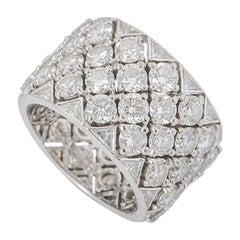 Graff Diamond Snowfall Band Ring 8.79 Carat