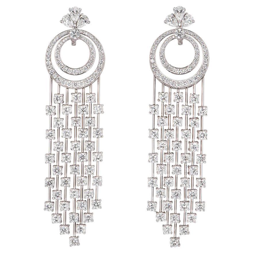 Graff Diamond Waterfall Chandelier Drop Earrings