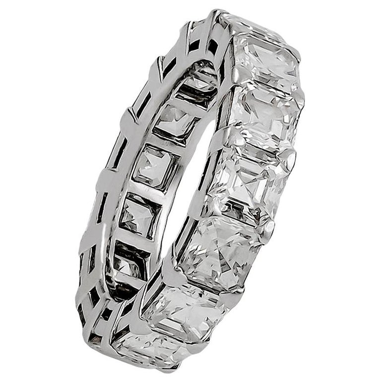 Graff Emerald-Cut Diamond Eternity Ring For Sale