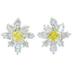 Graff Fancy Vivid Yellow Diamond Ear-Clip