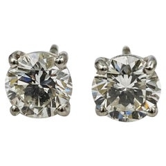Graff GIA Certified 2.01 Carat Total Weight Diamond Stud Earrings