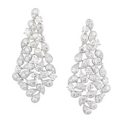 Graff Impressive 15cts Diamond Earrings in 18 Karat Gold in 'As New' Condition