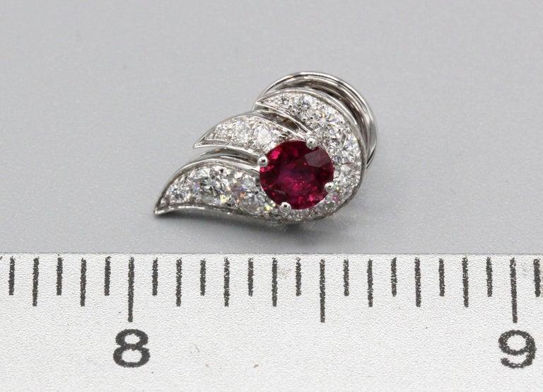 Women's Graff Ruby Diamond 18 Karat White Gold Earrings For Sale