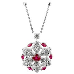 Graff Ruby & Diamond White Gold Pendant Necklace