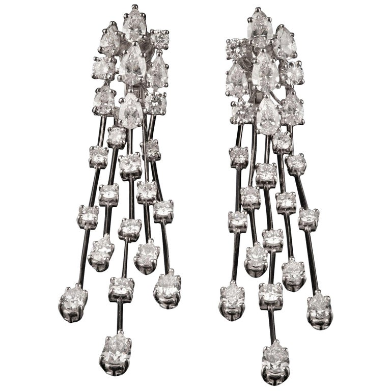 Graff Waterfall Drop Diamond Earrings For Sale