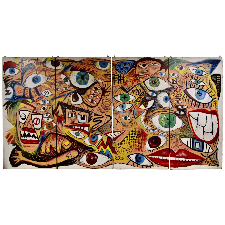 Graffiti Mural By Jerome Ferretti 1990