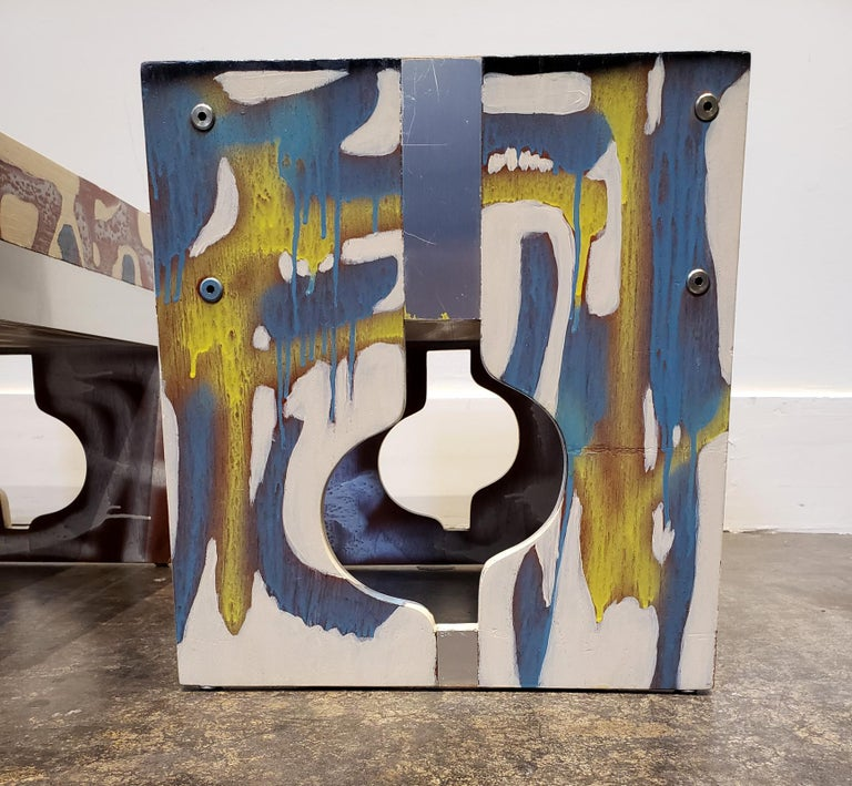 Graffitied Artist Painted 1970s Nightstands 3