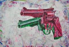 Inner Conflict-Popart,Pistols, luxury brands, Supreme,Contemporary Art,Graffiti