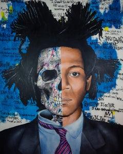 Samo is dead- fine Contemporary Popart, Portrait, 24K Gold, Jean-Michel Basquiat