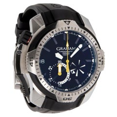 Graham Chronofighter 2CDAV.B02A, Black Dial, Certified and Warranty