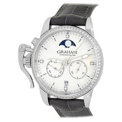 Graham Chronofighter 2CXCS.S06A.C158S, Silver Dial, Certified