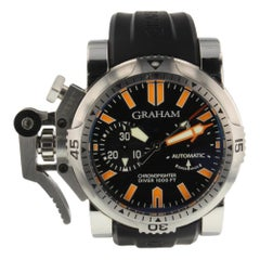 Graham Chronofighter 2OVDIVAS.B02A.K10B, Black Dial, Certified and Warranty