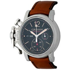 Graham Chronofighter Automatic Day and Date Stainless Steel Wristwatch