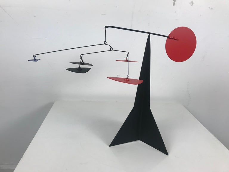 Amazing Kinetic/stabile motion sculpture hand built and designed by Graham Sears. Stunning!! Acclaimed artist Sears, born in Buffalo, NY in 1953, is an alumnus of both The Nichols School and The University of Buffalo. Following his studies in the