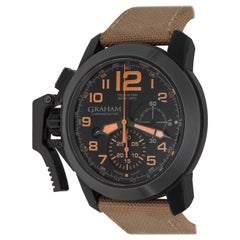 Graham Stainless Steel Ceramic Chronofighter Automatic Wristwatch
