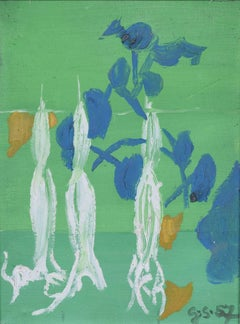 Graham Sutherland Datura 1957 oil on board - South of France