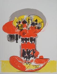 Composition with yellow and red - Original lithograph - Mourlot, 1972