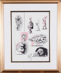 A 20th Century British lithograph by the great British artist Graham Sutherland