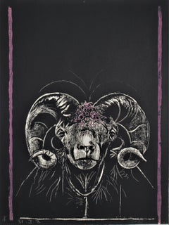 """Ram's Head, Full Face"" from the suite ""Bestiary and some Correspondences"""