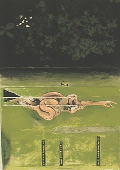 The Swimmer - Original Lithograph by Graham Sutherland - 1973