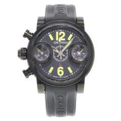 Graham Swordfish Black Dial Chronograph PVD Steel Automatic Men's Watch 2SWASE