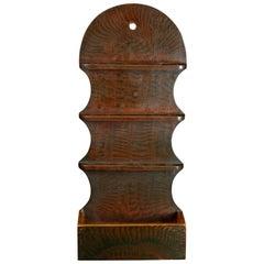 Grain Painted Colonial Williamsburg Style 18-Spoon Wall Rack & Pocket