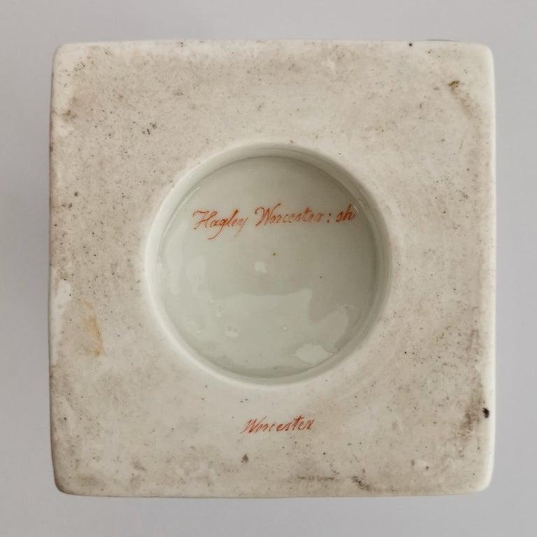 Grainger Worcester Porcelain Vase, Lilac, View of Hagley, Regency Empire a 1820 For Sale 12