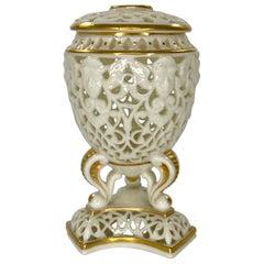 Graingers Royal Worcester Porcelain Vase and Cover, c. 1890
