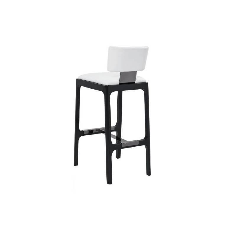 Wondrous Gramercy Counter Stool In White Leather With Ash Frame By Powell Bonnell Ncnpc Chair Design For Home Ncnpcorg