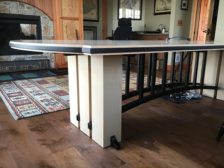 Gramercy Tavern Dining or Desk Table, Hand crafted and Designed by Gregg Lipton In New Condition For Sale In Cumberland, ME