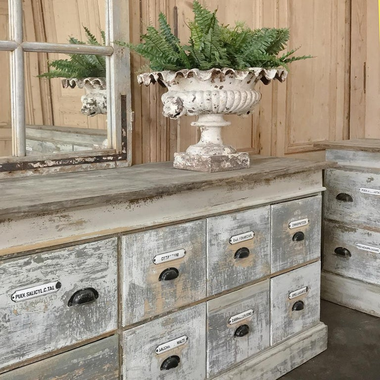 Grand 19th Century Apothecary Store Counter For Sale At