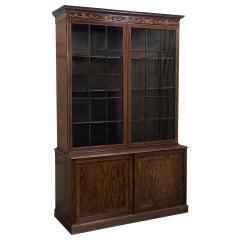 Grand 19th Century English Mahogany Bookcase