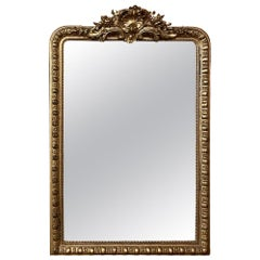 Grand 19th Century French Louis XIV Gilded Mirror