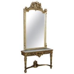 Grand 19th Century French Louis XVI Gilded Mirror
