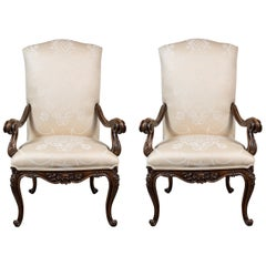 Grand, 19th Century Hall Chairs