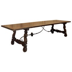 Grand 19th Century Spanish Oak Banquet Table