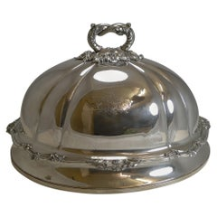 Grand Antique English Old Sheffield Plate Meat / Food Domed Cover, circa 1842
