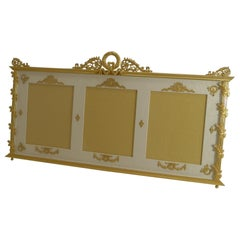 Grand Antique French Gilded Bronze Triple Photograph / Picture Frame, circa 1900