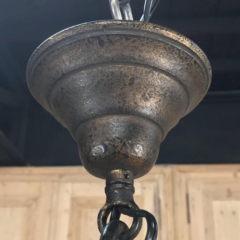 Grand Antique Iron Chandelier For Sale 2