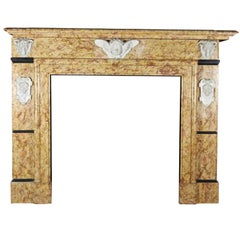 Grand Art Deco Antique Fireplace Surround